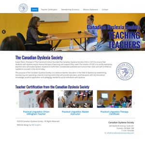 Canadian Dyslexia Society - Website Design