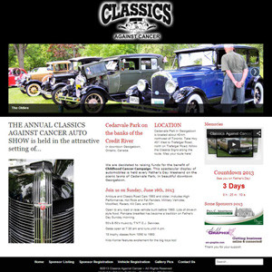 Classics Against Cancer - Website Design