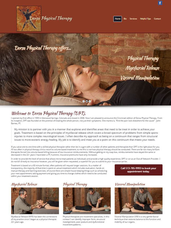 Dorsa Physical Therapy - Website