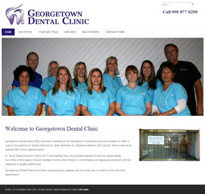 Georgetown Dental Clinic - Website Design