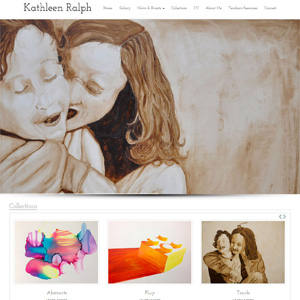 The Art of Kathleen Ralph - Website Design