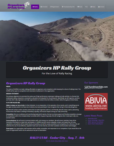 Organizers HP Rally Group - Website