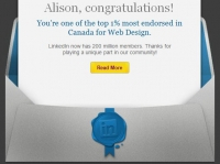 LinkedIN Top 1% in Canada